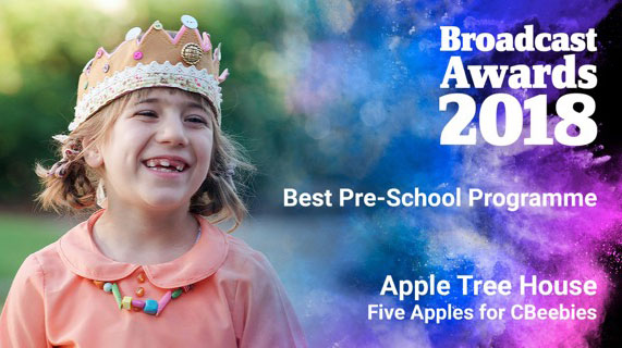 Congratulations Five Apples Winner of the Broadcast Awards 2018. Pre School Apple Tree House for CBeebies